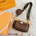 LV 1:1 bag vuitton replica Multi Pochette Accessories LV 3in1 bag LV bags