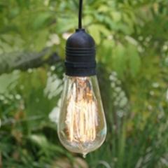 11FT SINGLE SOCKET COMMERCIAL GRADE OUTDOOR PENDANT LIGHT LAMP CORD