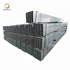 ASTM steel profile ms square tube galvanized  Furniture Rectangular Pipe Factory