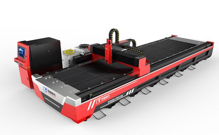龙门式既能切板又能切管数控激光板管切割一体机百盛直销 1