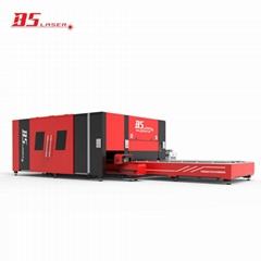 雙驅龍門式封閉式F3015HBDE激光切割板材管材一體機