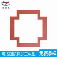 紅色布紋硅膠發泡板