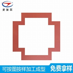 红色布纹硅胶发泡板