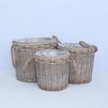 white wicker storage baskets with handle 2