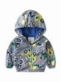 Autumn Allover Print Toddler Little Boy Hooded Jacket 2