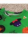 Halloween Baby Toddler Girl Pumpkin Ghost Printed Mesh Patchwork Dress 3