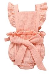 Flutter Sleeve Fluffy Muslin Baby Romper Onesie
