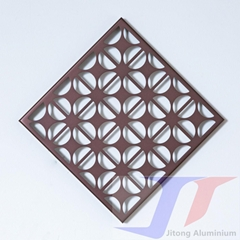 Wall Cladding Panel Aluminum Single Solid Punched Perforated Screen Panels