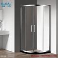 Aluminium hot sell tempered glass shower