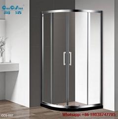 Aluminium hot sell tempered glass shower enclosure shower cabin