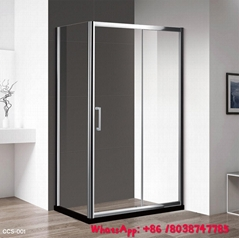 Aluminium shower enclosure shower room with tempered glass