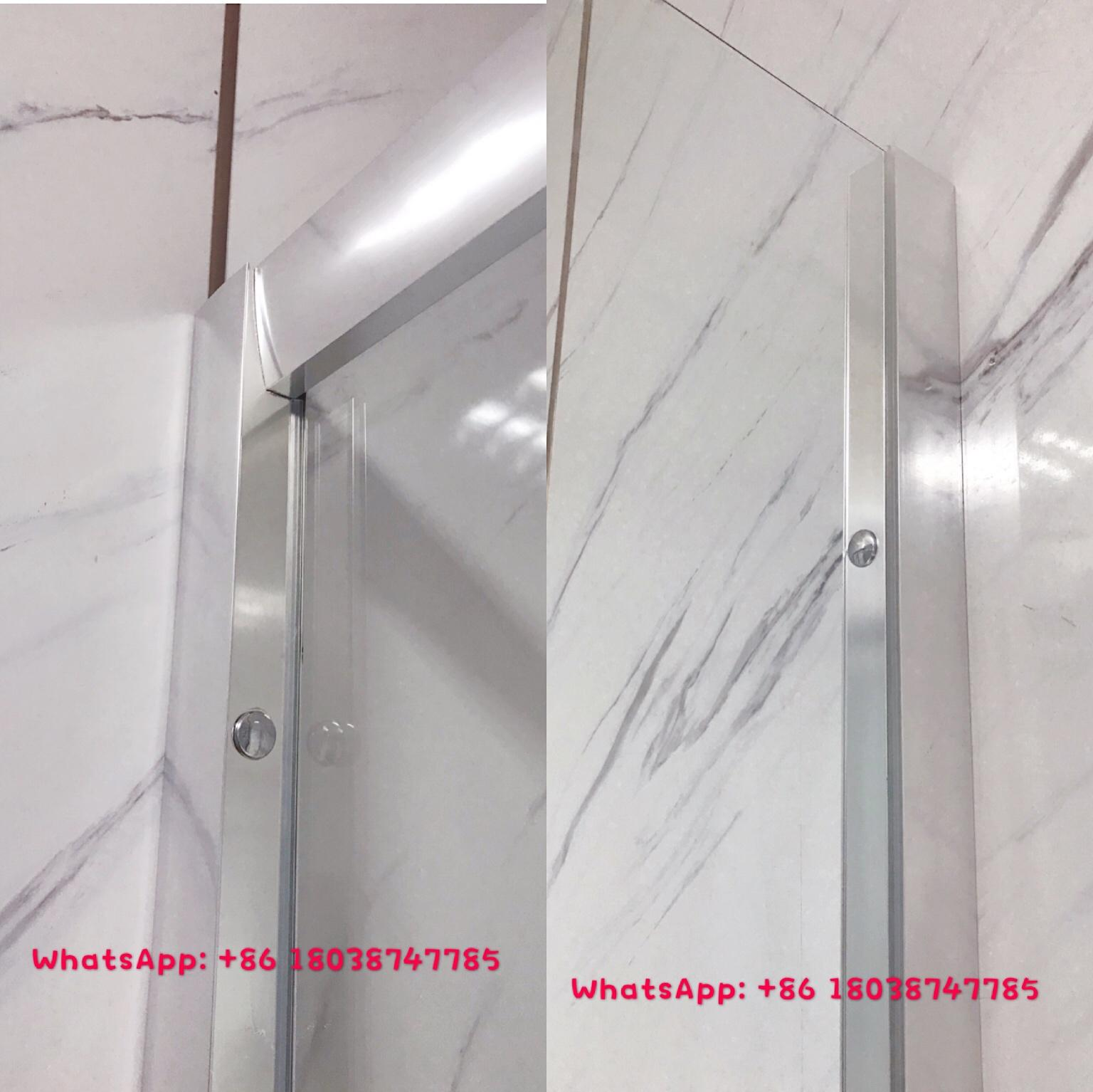 Aluminium shower enclosure shower room with tempered glass 2