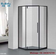 SUS304 shower enclosure shower room black color diamond shape