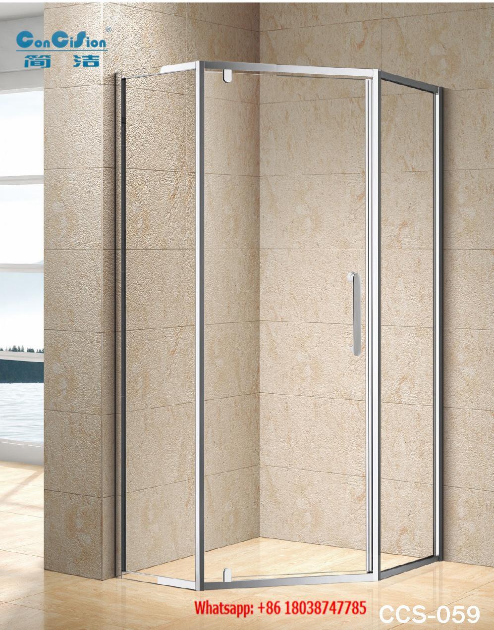 SUS304 shower enclosure shower room black color diamond shape 3