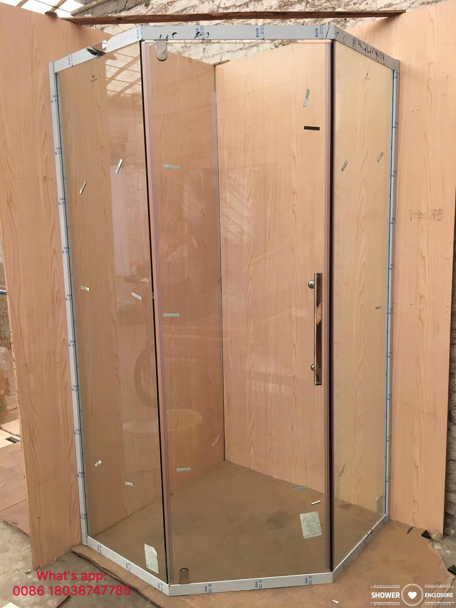 SUS304 shower enclosure shower room black color diamond shape 4