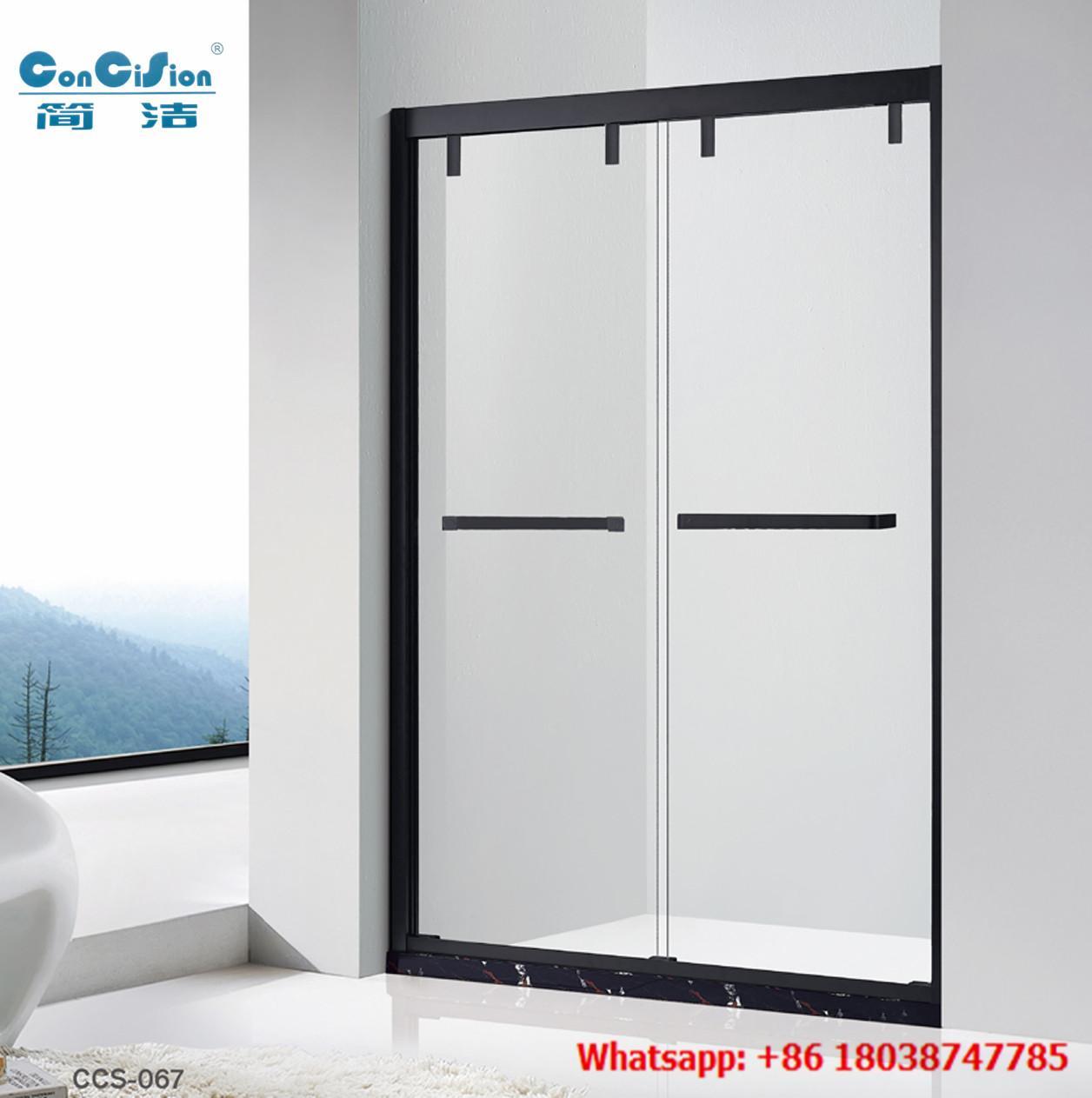 SUS304 Shower door shower screen shower enclosure shower room in black color 1