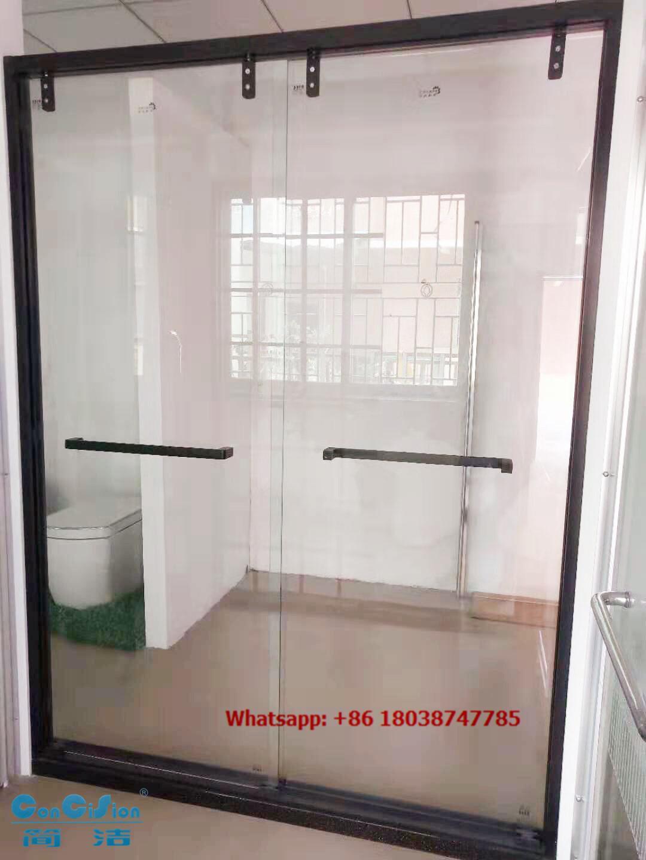 SUS304 Shower door shower screen shower enclosure shower room in black color 4