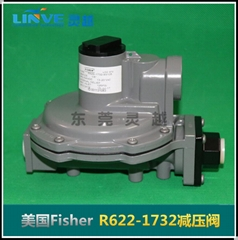 美国费希尔Fisher高转低调压器R622-5燃气减压阀 燃烧机调压阀