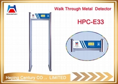 Security gate door frame walk through security gates metal detector