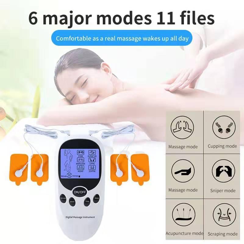 數碼理療儀按摩器會展禮品按摩器批發雙孔藍屏 5