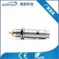 廠家直銷金屬2B插頭密封型插座醫療工業精密圓形連接器航空頭M15 1