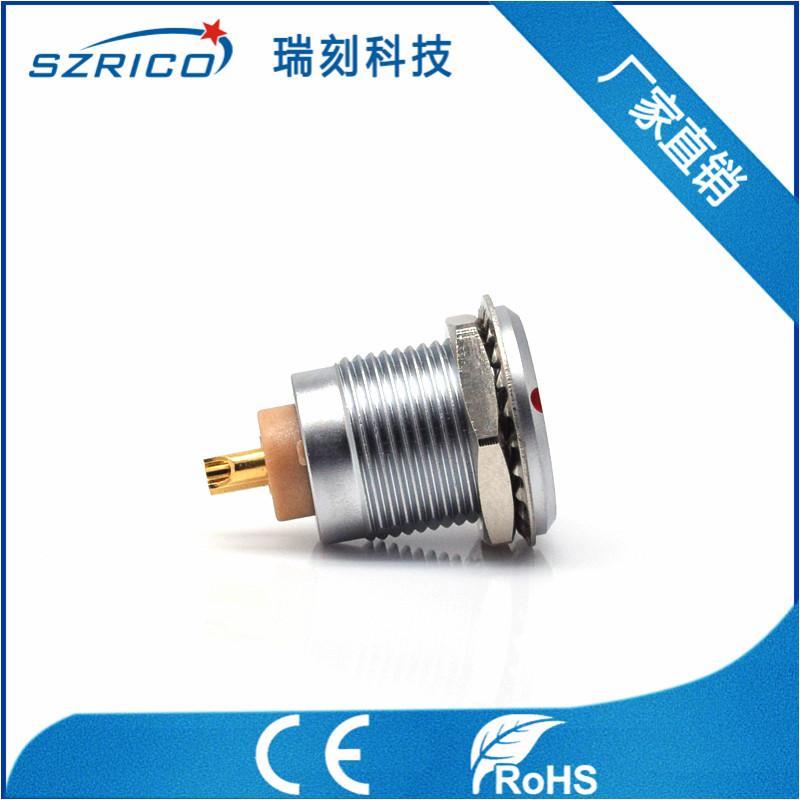 廠家直銷金屬2B插頭密封型插座醫療工業精密圓形連接器航空頭M15 2
