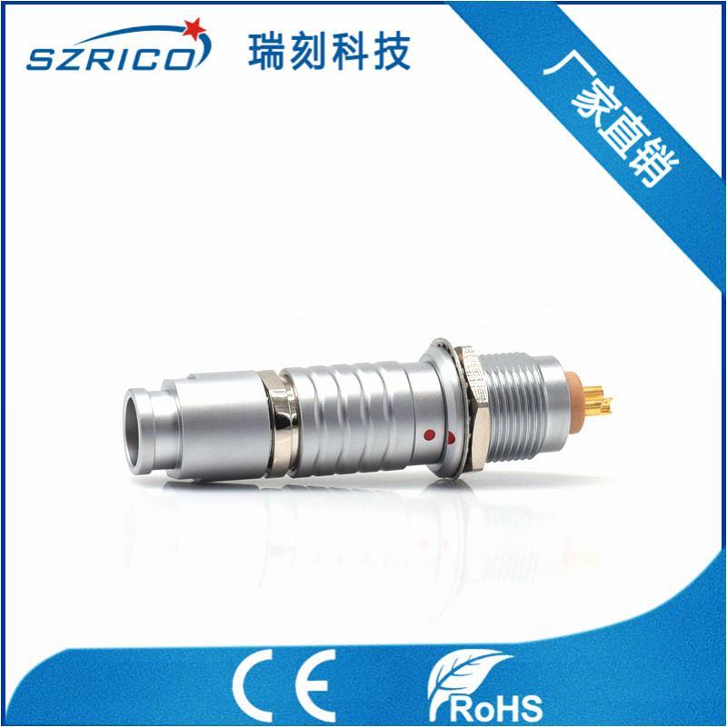 廠家直銷金屬2B插頭密封型插座醫療工業精密圓形連接器航空頭M15 5