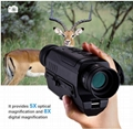 Monocular Device 5X Magnification Night Hunting Night Vision Telescope