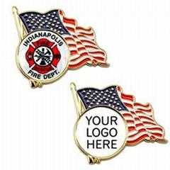 American Flag Enamel Lapel Pin