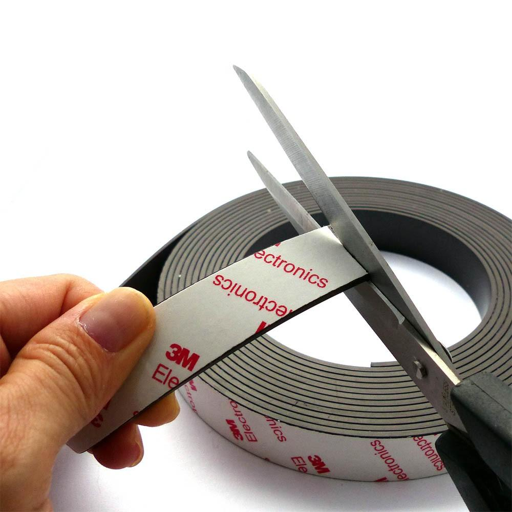 Strong Flexible rubber magnet with 3m self-adhesive magnet sheet  1