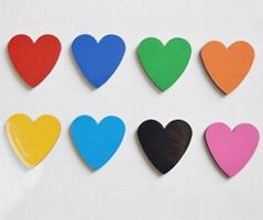 Magnetic heart-shaped ma