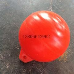 滾塑廠家加工空心攔污浮球 30公分新浮球批發 山東河南警示浮球