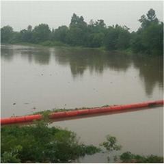 湖面水草阻隔拦污浮筒 漂浮物隔离塑料浮筒