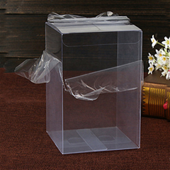 Custom transparent clear PVC PET plastic packaging box