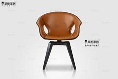 掌櫃家居輪廓椅 輕奢書椅 姜椅