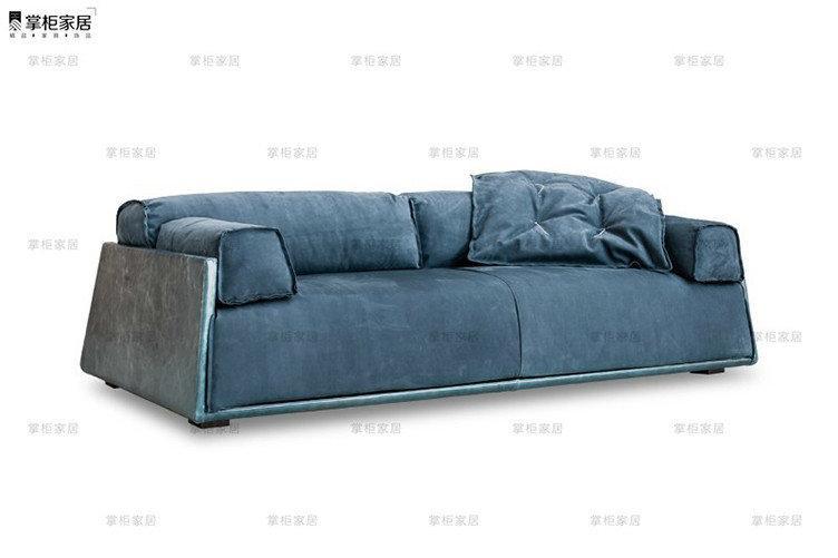 掌柜家居北欧全真皮沙发头层牛皮客厅三人位设计师复古风格沙发 1