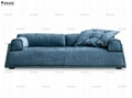 掌柜家居北欧全真皮沙发头层牛皮客厅三人位设计师复古风格沙发 2