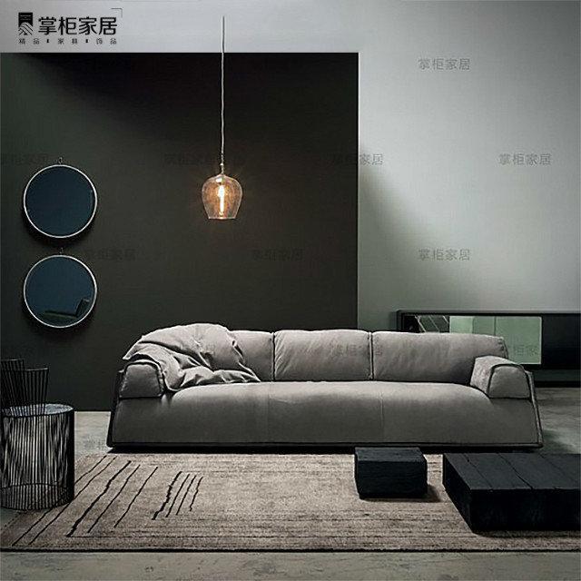 掌柜家居北欧全真皮沙发头层牛皮客厅三人位设计师复古风格沙发 3