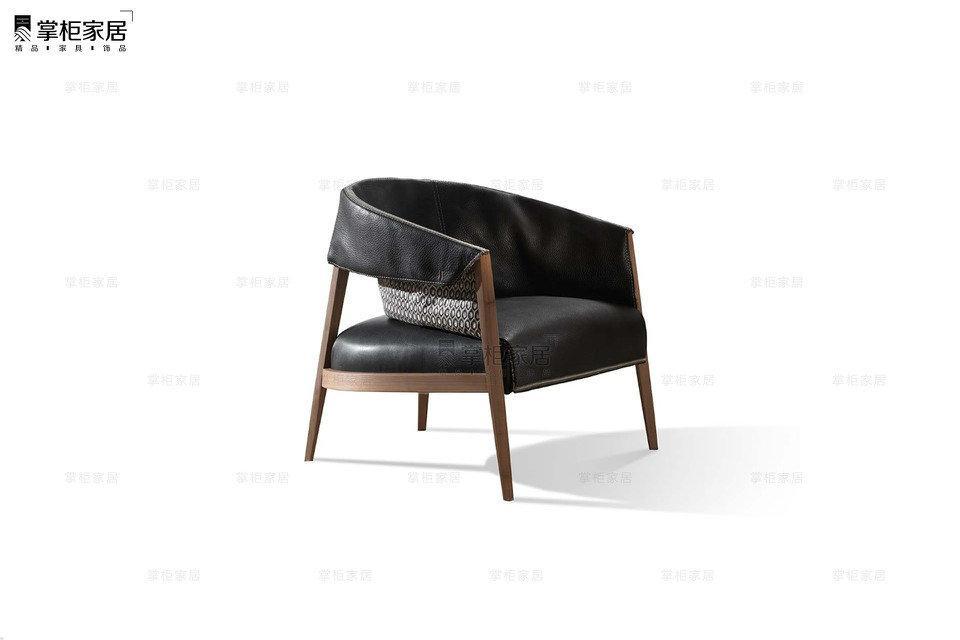 掌櫃家居LIZA_chair 北歐實木休閑單椅 4