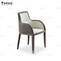 掌櫃家居DEKA armchai新中式后現代餐廳餐椅