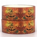 Hot Sale Halloween Decorative Custom Printed Masking Washi Tape
