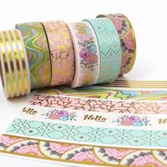 Wholesale Custom Printed Washi Tape Self Adhesive Gold Foil Washi Tape