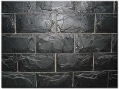 天然板岩文化石青石板组合板庭院外墙文化墙背景墙组合石板