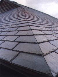 天然青石板瓦板 屋頂魚鱗瓦片 別墅復古防水瓦板隔熱瓦片 1