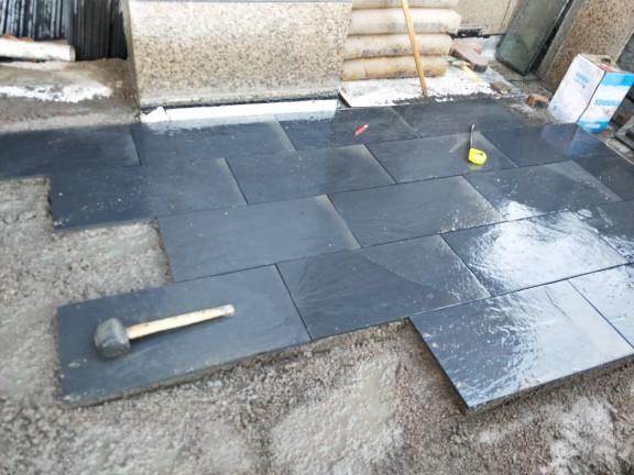 青石板踏步石板石鋪路板青磚防滑天然文化石 5