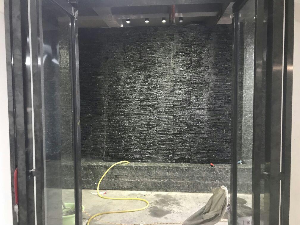 青石板板岩流水石文化石背景墙组合板风景墙 5