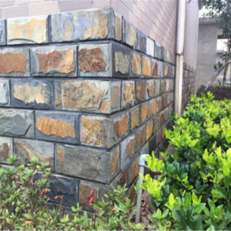 板岩文化蘑菇石花园别墅庭院墙面仿古文化砖背景墙 2