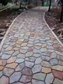青石板鏽板岩 碎石板 路鋪路石 天然鏽色碎拼文化石 2