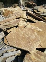 青石板岩無規則碎拼石亂拼板文化庭院鋪地石廠家直銷量