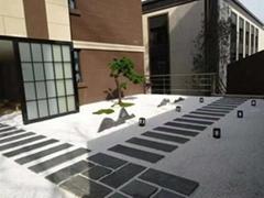 板岩青石板踏步庭院花园地砖餐厅酒店耐磨青砖别墅广场防滑